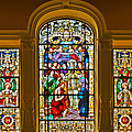 Stained Glass Window Cathedral St Augustine by Christine Till