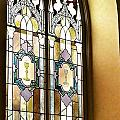 Stained Glass Window In Arch by Susan Garren