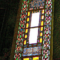 Stained Glass Window In Saint Sophia's In Istanbul-turkey  by Ruth Hager