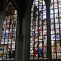 Stained Glass Window Of Oude Kerk by Gerry Bates