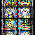 Stained Glass Window Of Santa Maria Del Fiore Church Florence Italy by Irina Sztukowski