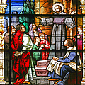 Stained Glass Window Saint Augustine Preaching by Christine Till