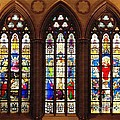 Stained Glass Windows At Saint Josephs Cathedral Buffalo New York by Rose Santuci-Sofranko