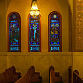 Stained Glass Windows At St Sophia by Ed Gleichman