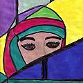 Stained Glass Woman by Debbie Wassmann