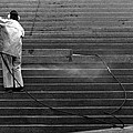 Stair Washing 2  by Lyle Crump