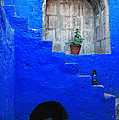 Staircase In Blue Courtyard by RicardMN Photography