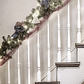 Stairs At Christmas by Margie Hurwich