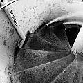 Stairs Leading Downward Into The Catacombs Of Paris France by Richard Rosenshein