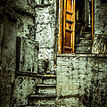 Stairs Leading To The Old Door by Catherine Arnas