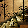 Stairs With Ornamented Handrail by Jaroslaw Blaminsky
