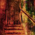 Stairway To Arched Door by Bob Coates