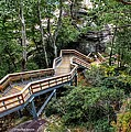 Stairway To Chimney Rock by Maurice Smith