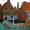 Stairway To Enkhuizen From The Dike-netherlands by Ruth Hager