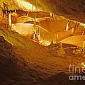 Stalactites And Stalagmites In Cave Ibiza by Rosemary Calvert