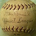 Stan Musial Autograph Baseball by Lois Ivancin Tavaf