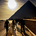 Standing Before The Great Pyramid In Egypt by Mark E Tisdale