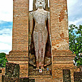 Standing Buddha At Wat Mahathat In 13th Century Sukhothai Historical Park-thailand by Ruth Hager