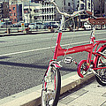 Standing Red Bike by Javier Gomez