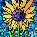 Standing Tall - Sunflower Art By Sharon Cummings by Sharon Cummings