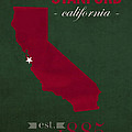 Stanford University Cardinal Stanford California College Town State Map Poster Series No 100 by Design Turnpike