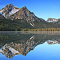 Stanley Lake Sawtooth Mountains by Ed  Riche