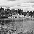 stanley park coal harbour and Vancouver rowing club marina BC Canada by Joe Fox