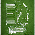 Stanton Bass Drum Patent Drawing From 1904 - Green by Aged Pixel