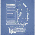 Stanton Bass Drum Patent Drawing From 1904 - Light Blue by Aged Pixel