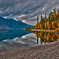 Stanton Mountain With Mount Vaught And Mcpartland Reflected In Lake Mcdonald by Brenda Jacobs