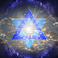 Star Of David And The Milky Way by Endre Balogh