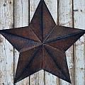 Star On Barn Wall by Dan Sproul