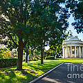 Star Over The Mausoleum - Henry And Arabella Huntington Overlooks The Gardens. by Jamie Pham