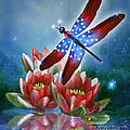 Star Spangled Dragonfly by Carol Cavalaris