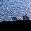 Star Trails Above Keck by Jason Chu
