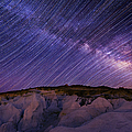 Star Trails And The Milky Way by Photo By Matt Payne Of Durango, Colorado
