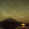 Star Trails Around South Celestial Pole by Harley Betts