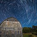 Star Trails Over Barn by Paul Freidlund