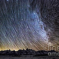 Star Trails Over Teton Mountains by Mike Cavaroc