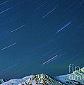 Star Trails Over The Chugach Mountains by Ronnie Glover