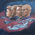 Star Trek Tribute Captains by Bryan Bustard