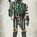 Star Wars Inspired Boba Fett Typography Artwork by Inspirowl Design