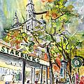 Starbucks Cafe In Budapest by Miki De Goodaboom