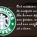 Starbucks Mission by Barbara Snyder