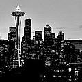 Stark Seattle Skyline by Benjamin Yeager
