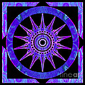 Starlit Purple Nights Abstract Mandala Artwork By Omaste Witkows by Omaste Witkowski
