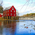 Starrs Mill On Whitewater Creek by Barbara Bowen