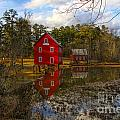 Starrs Mill Reflection by Barbara Bowen