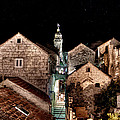 Starry Night Above The Rooftops Of Korcula by Weston Westmoreland
