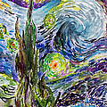 Starry Night After Vincent Van Gogh by Ginette Callaway